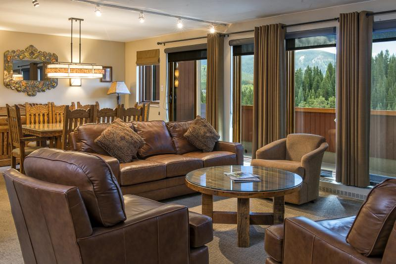 Alpenglow Suite Living Room and Dining Room at Beaver Run Resort Breckenridge