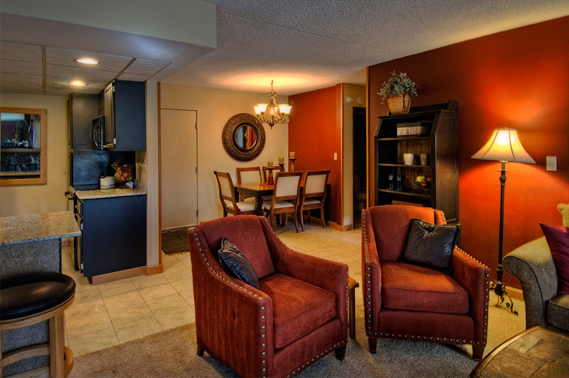 One Bedroom Living Area at Beaver Run Resort Breckenridge