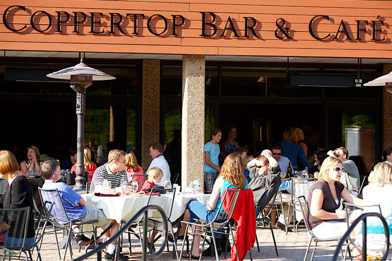 Coppertop Patio at Beaver Run Resort in Breckenridge