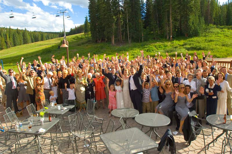 Coppertop Patio Wedding at Beaver Run Resort in Breckenridge