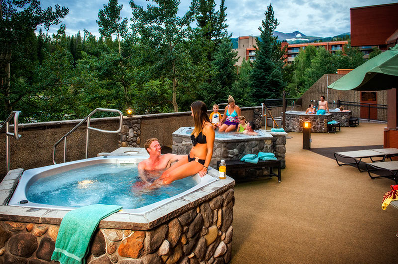 Outdoor Hot Tubs at Beaver Run Resort Breckenridge