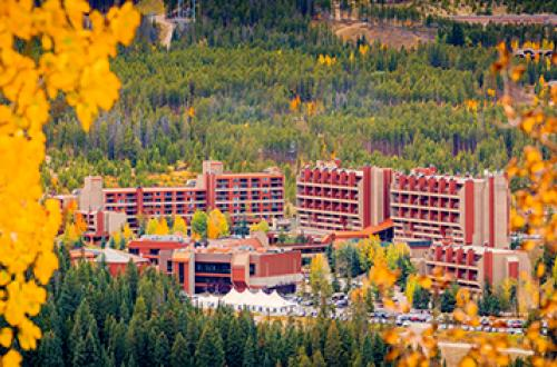 Beaver Run Resort surrounded by autumn leaves