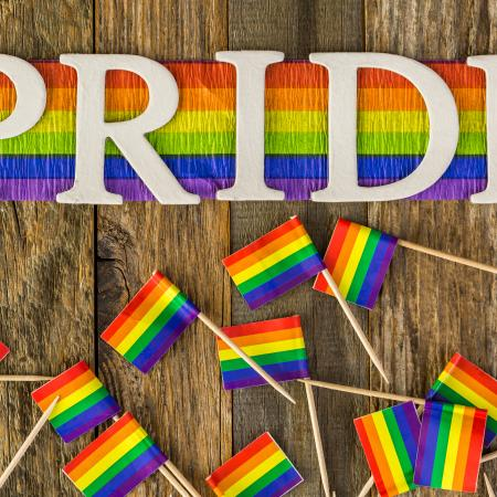 Rainbow Flag and Pride Letter