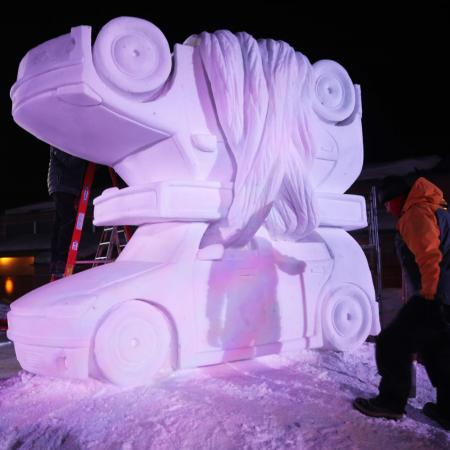 Snow sculpture in Breckenridge
