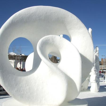 Snow Scultpure in Breckenridge
