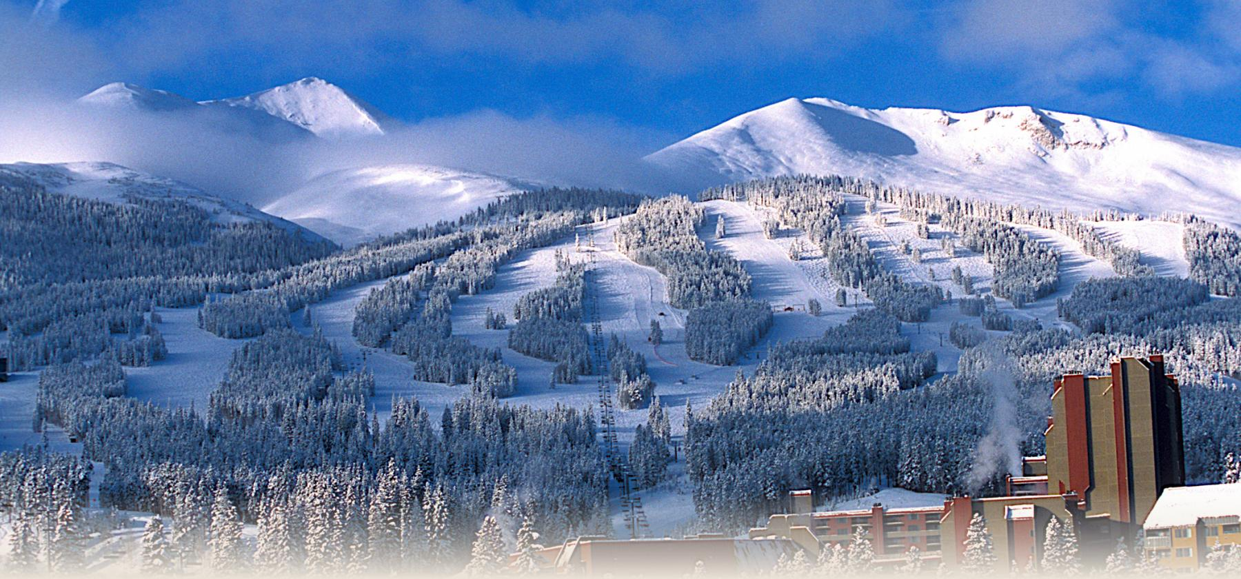 Beaver Run Resort and Ski Runs in Winter