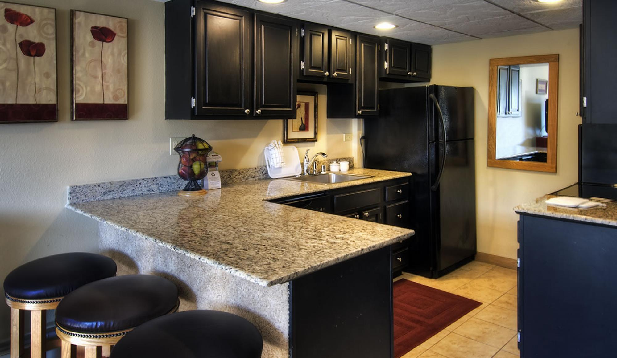 One Bedroom Condo Kitchen at Beaver Run Resort in Breckenridge