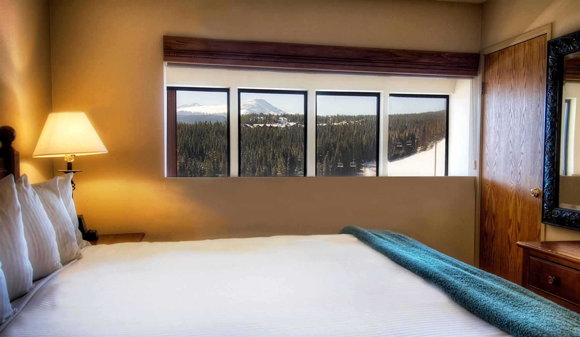 2 Bedroom Suite Master Bedroom at Beaver Run Resort in Breckenridge