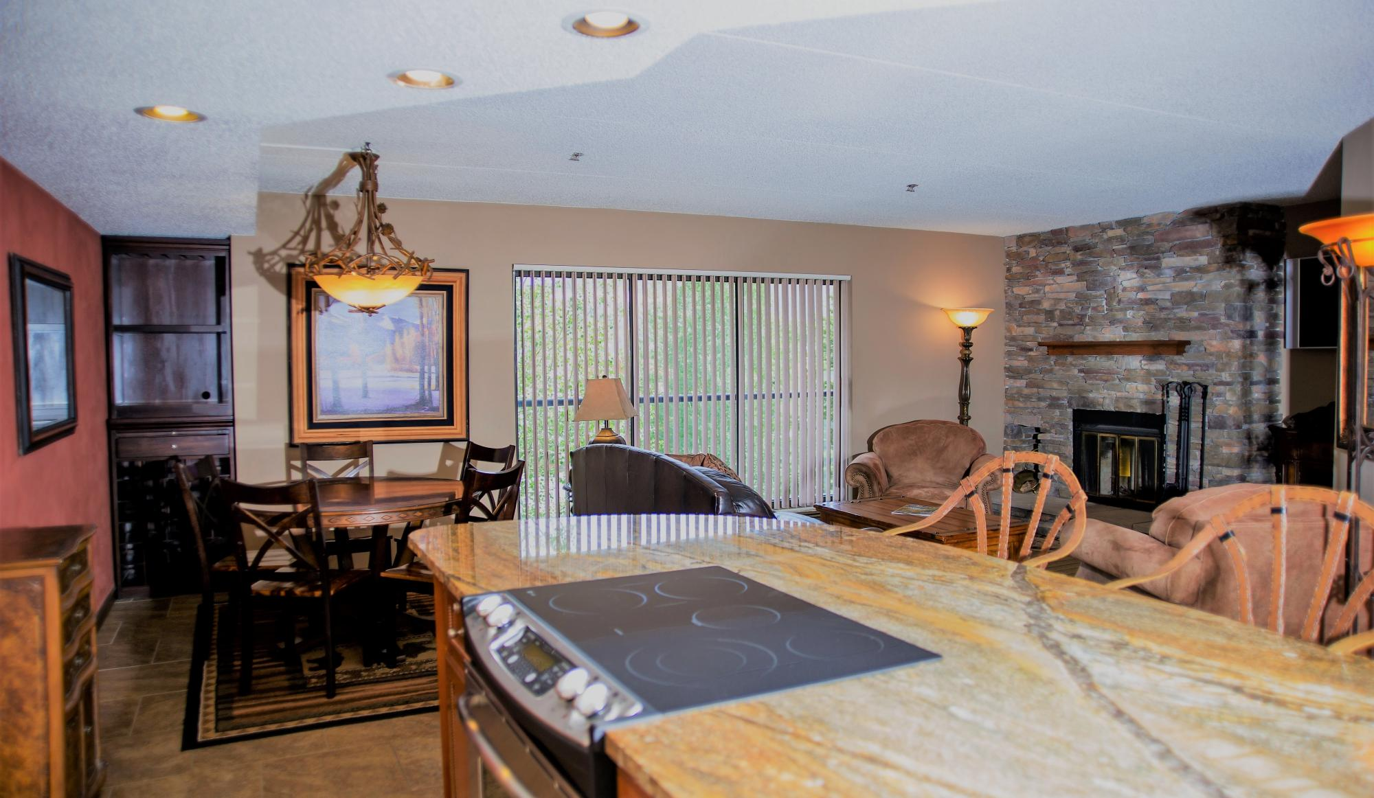 Beaver Run Resort 3 and 4 Bedroom Suites Kitchen/Living Room in Breckenridge
