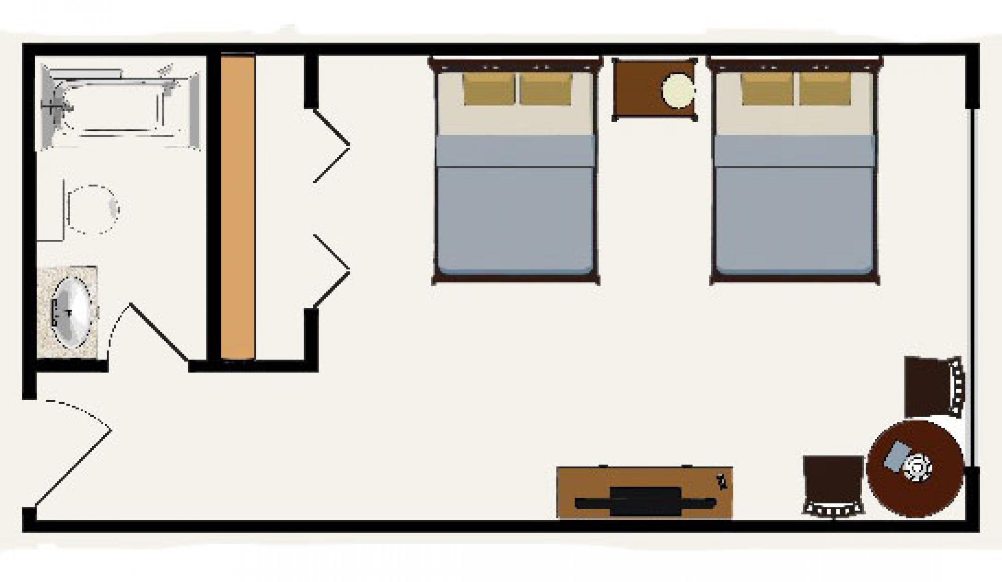 Beaver Run Resort in Breckenridge Hotel Room Floor Plan