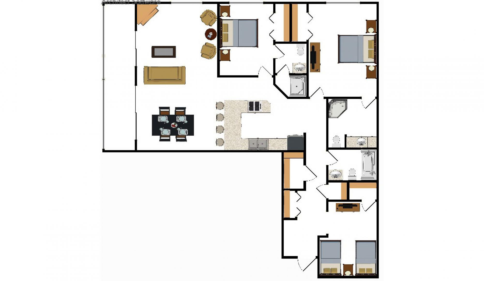 Beaver Run Resort Corporate Suite Floor Plan in Breckenridge