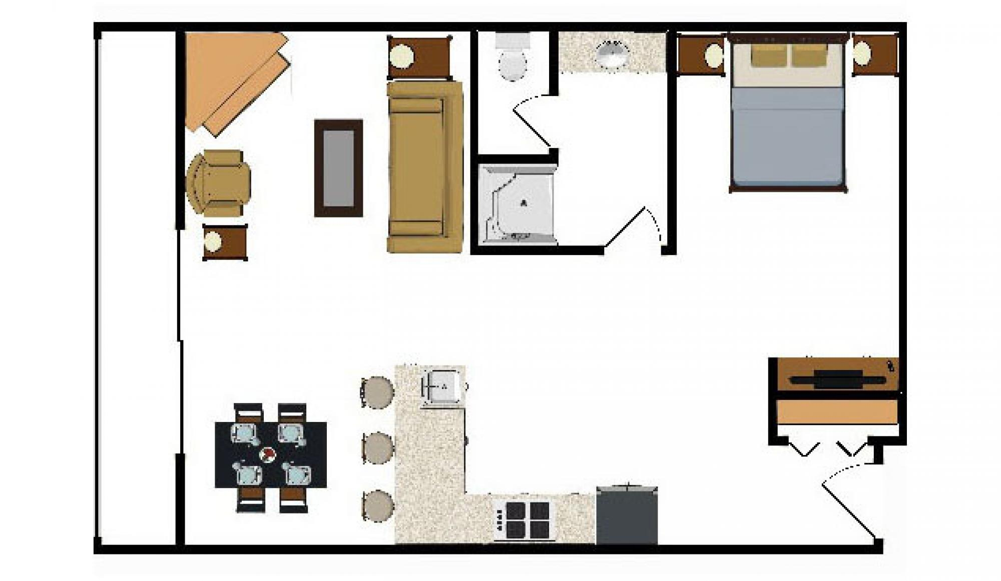 Beaver Run Resort Summit Suite Floor Plan in Breckenridge