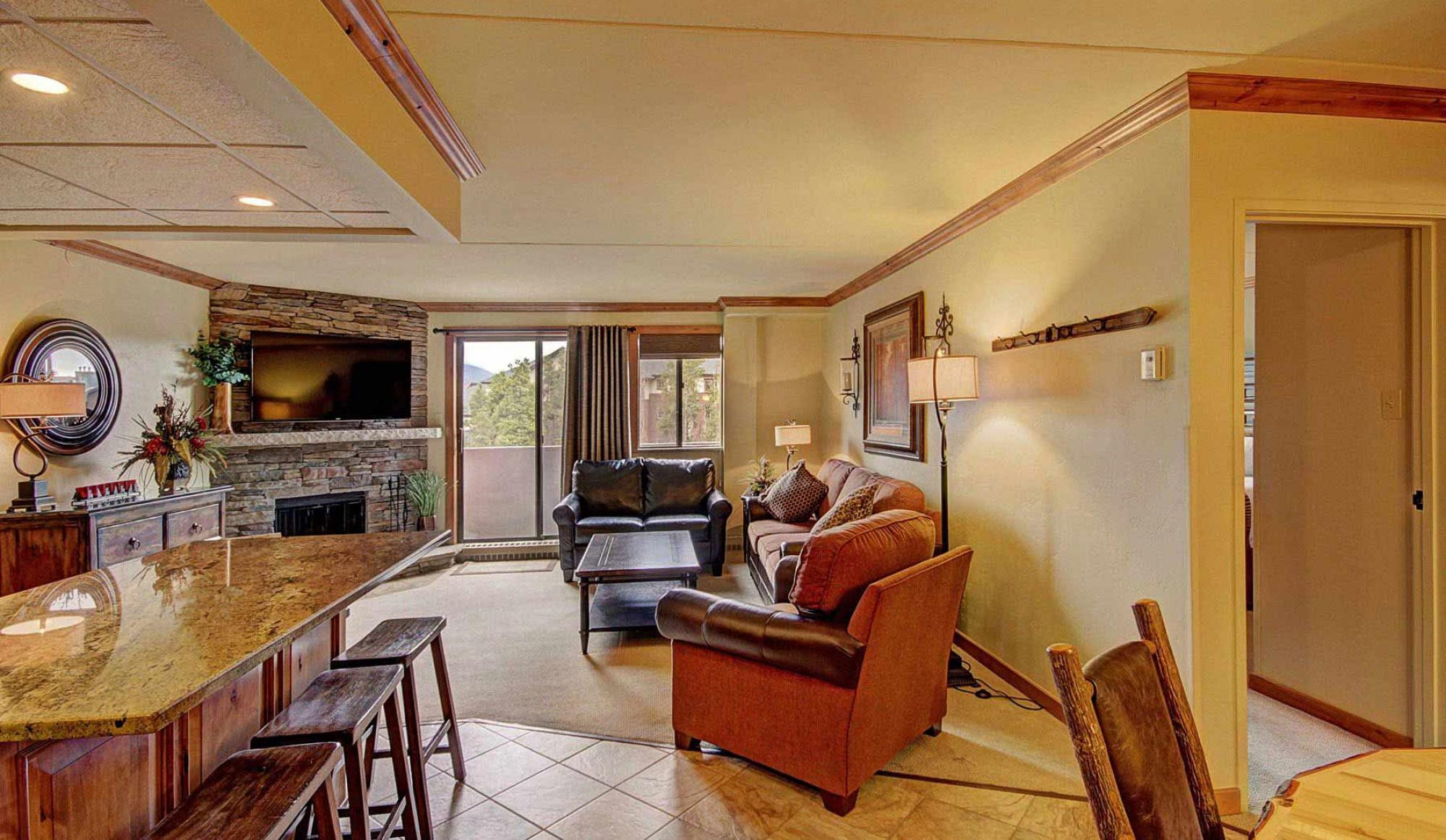 One Bedroom Condo Living Area at Beaver Run Resort in Breckenridge