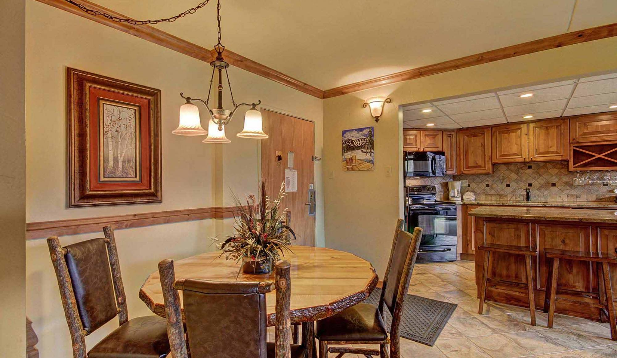 Beaver Run Resort in Breckenridge One Bedroom Condo Dining Room