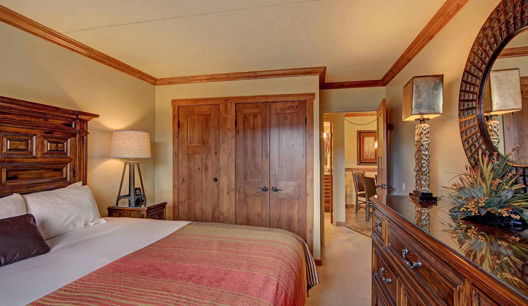 One Bedroom Condo Bedroom at Beaver Run Resort in Breckenridge