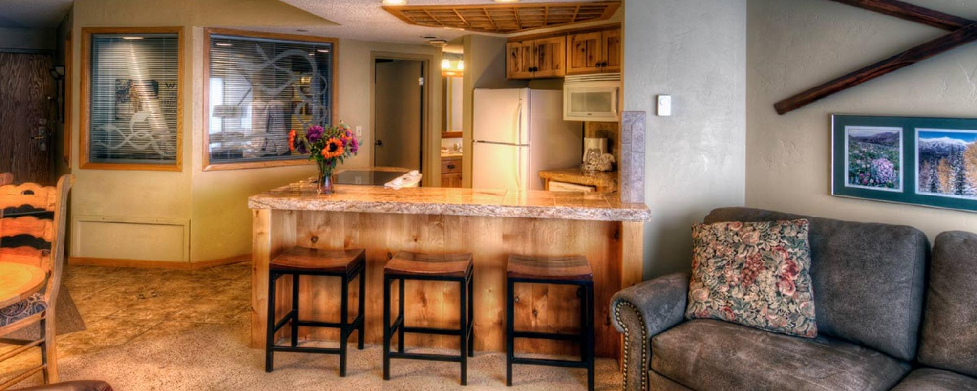 One Bedroom Suite at Building 4 at Beaver Run Resort in Breckenridge