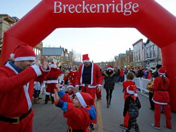 Race of the Santas in Breckenridge