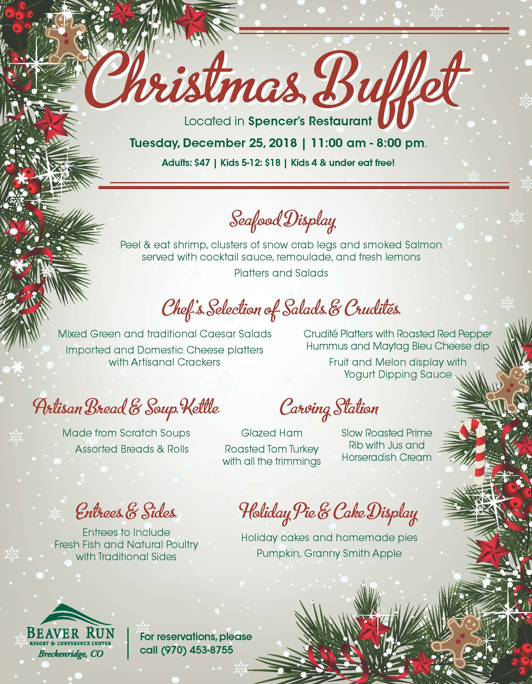 Christmas Buffet Menu