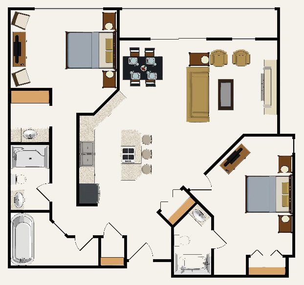 Building 4 Two bedroom Suite