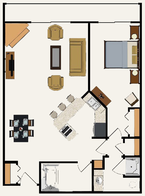 One Bedroom Suite building 4